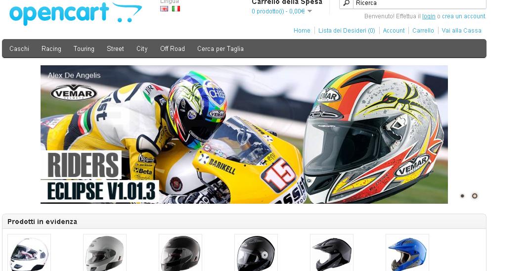 Překlad italského E-shopu z italského do češtiny.